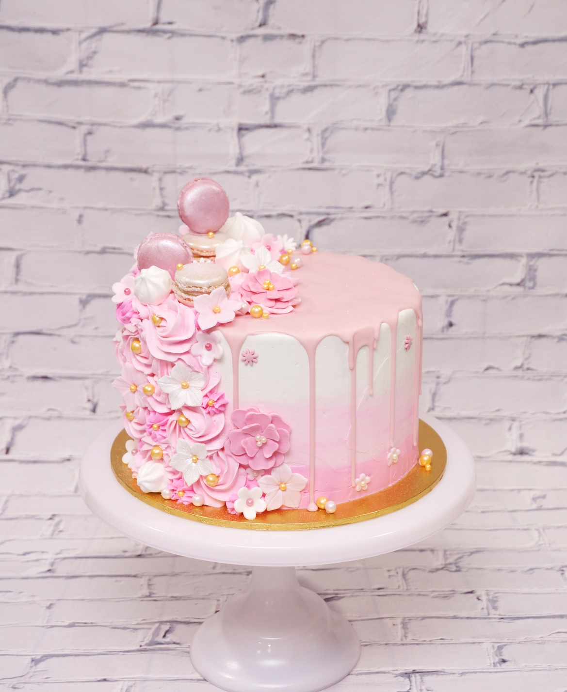 Pink Ombre Buttercream with buttercream