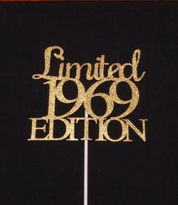 Gold Glitter Cardstock Limited 69 topper