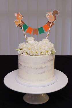 1 tier buttercream baby shower cake 1