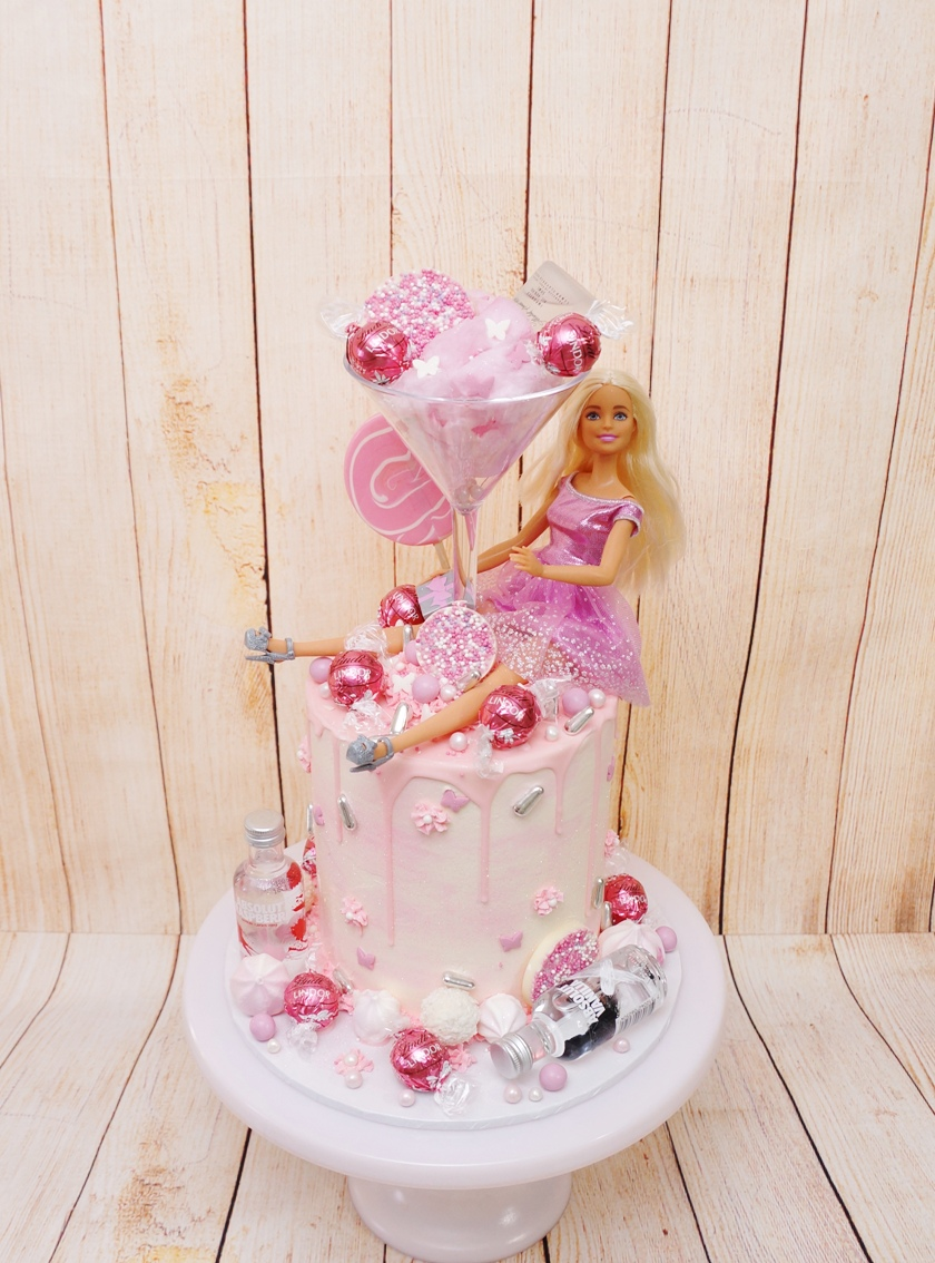 Barbie Alcohol Cake