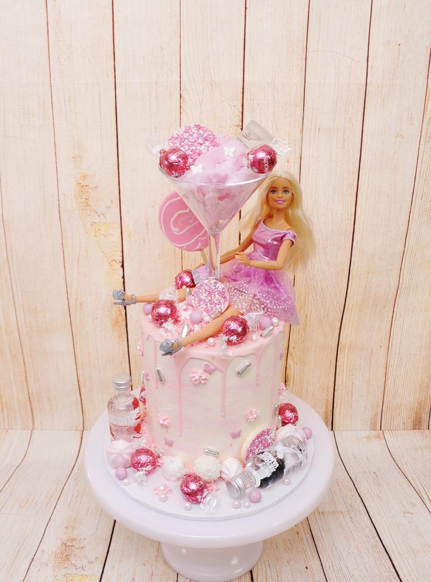 Barbie Alcohol Cake