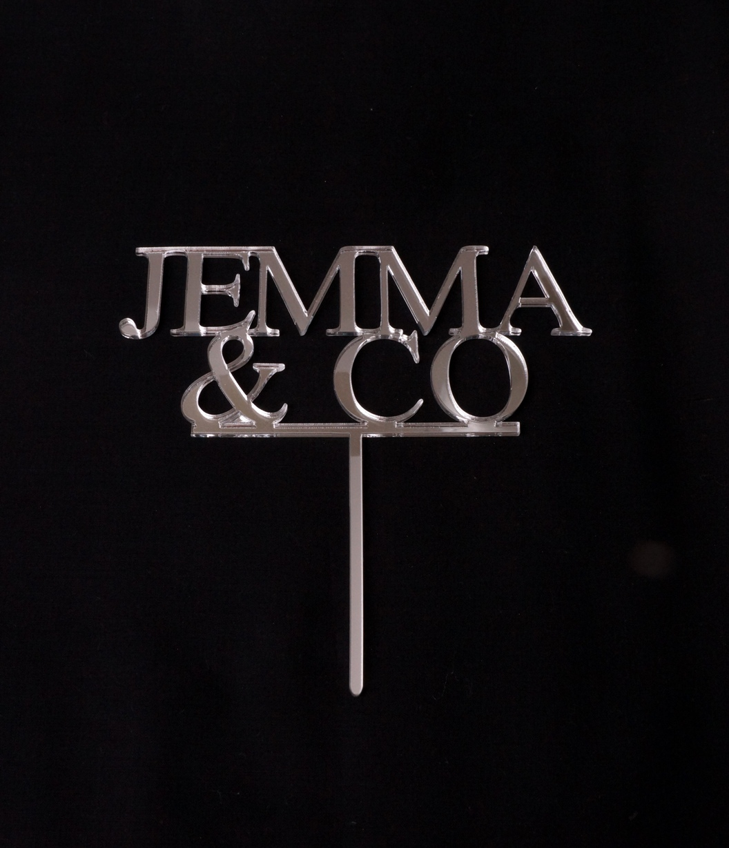 Silver Mirror Jemma & Co Topper
