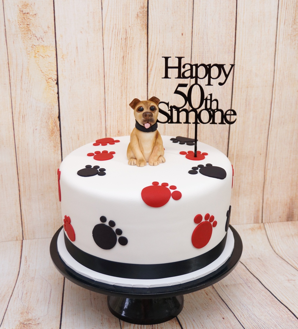 Staffy Dog Cake 1
