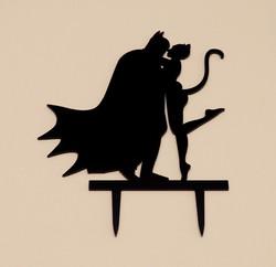 Batman & Catgirl Cake Topper
