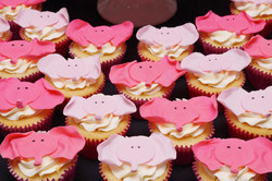 Pink Elephant face cupcakes 1