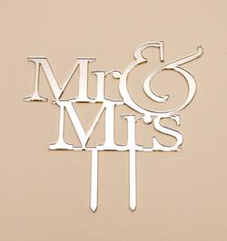 Mr & Mrs Cake Topper 1