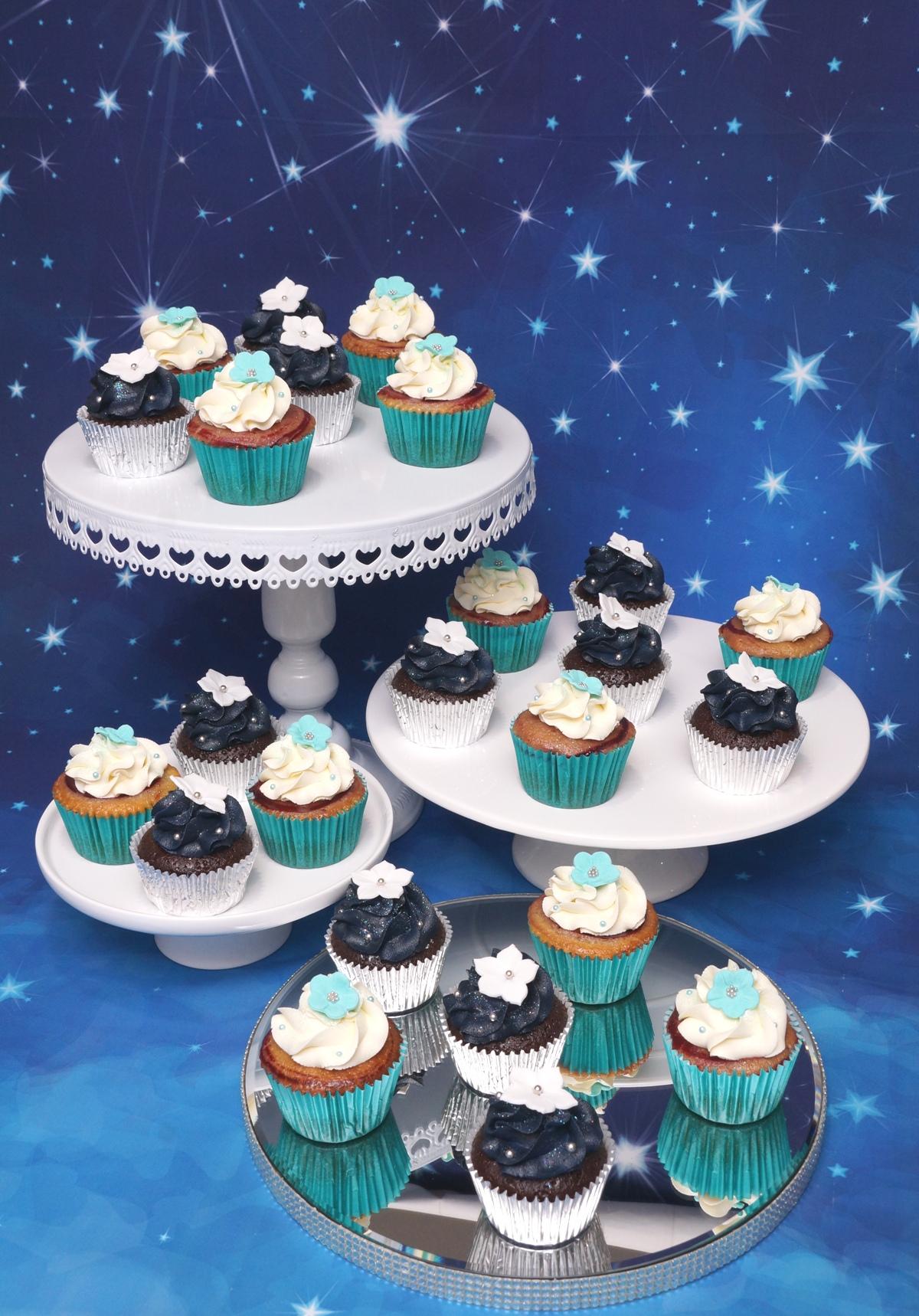 Navy & Teal Cupcakes 4