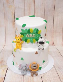 2 Tier Jungle Cake 1