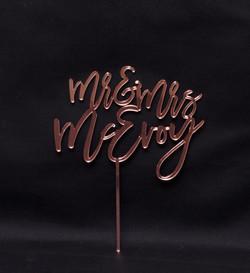 Mr & Mrs (name) -Rose Gold mirrro