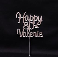 Happy 80th Valerie - Silver MIrror