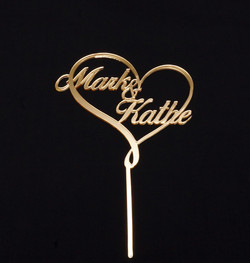 Gold Mirror Mark & Kathe in heart