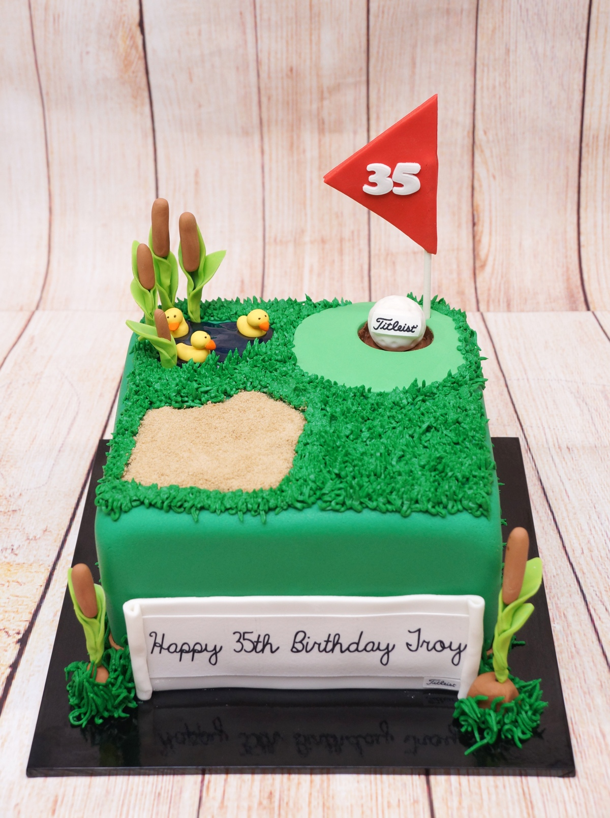 Golf Green Cake 1