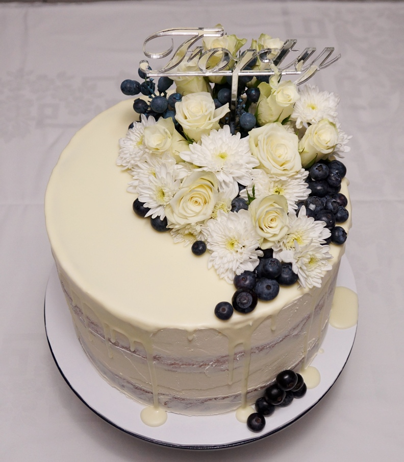 1 Tier buttercream 40th 3