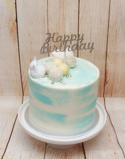 Blue & White Marble Buttercream