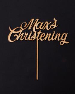 Wood Max's Christening