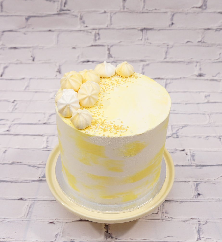 Yellow Marble Buttercream with yellow ki