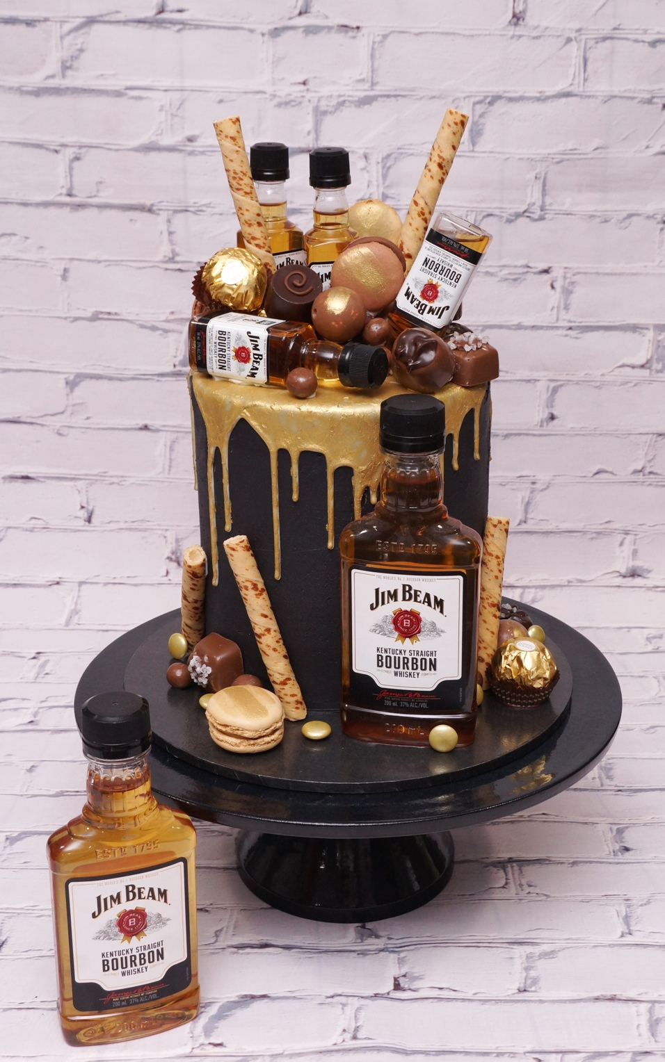 Jim Beam Gold Chocolate Drip cake