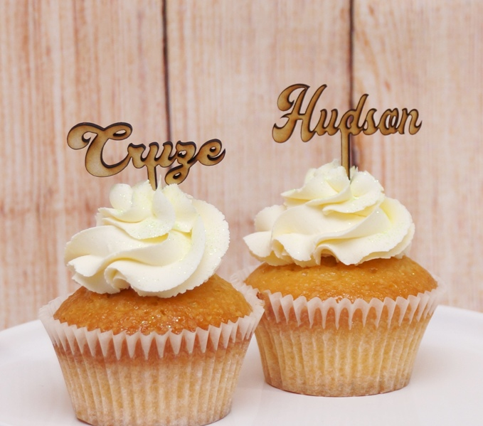 Cupcake Name Toppers