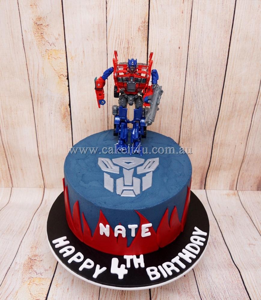 Optimus Transformer Cake