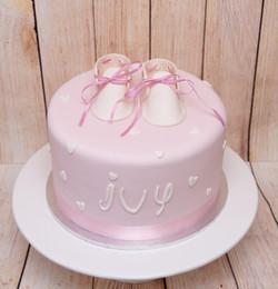 Pink Christening Cake 1