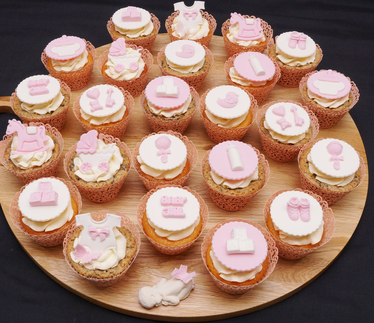 Pink Baby Shower Cupcakes 2