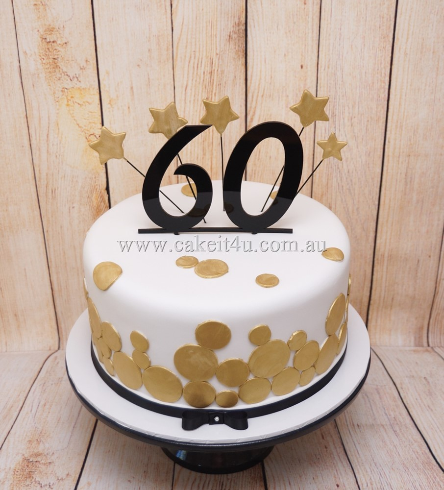 Black white and gold 60th