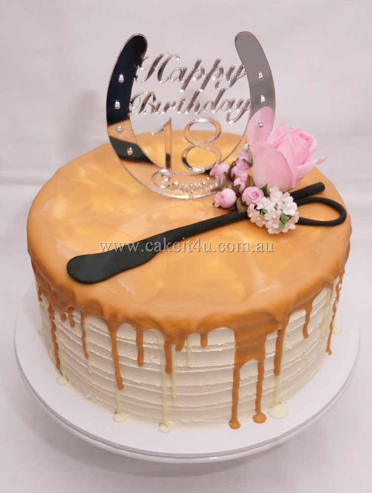 Buttercream with caramel drip 1