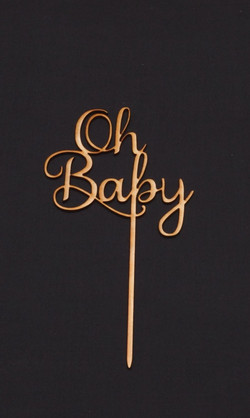 Wooden Oh Baby Topper