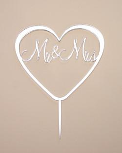 Mr & Mrs Silver Mirror