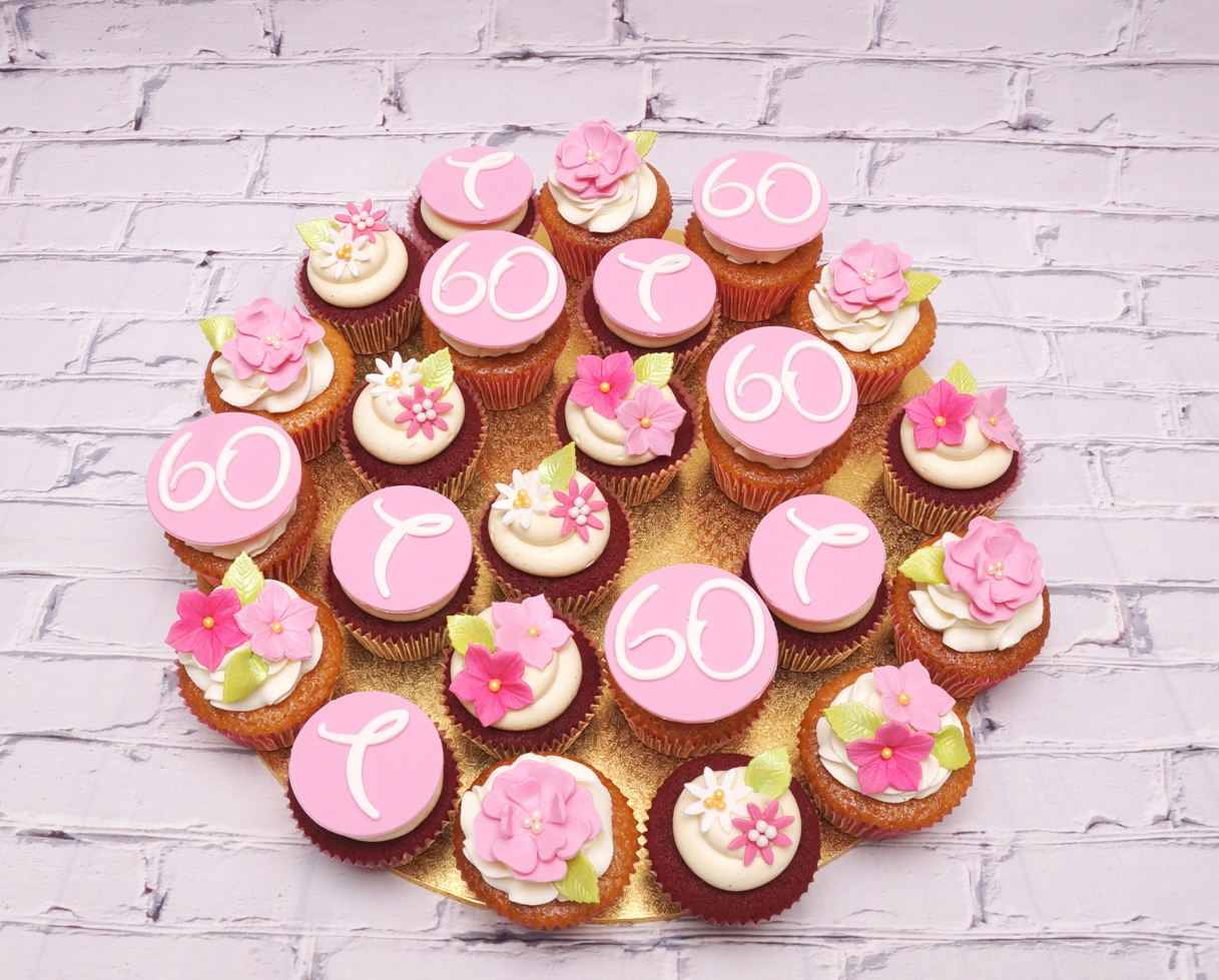 Pink 60th Cupcakes 3