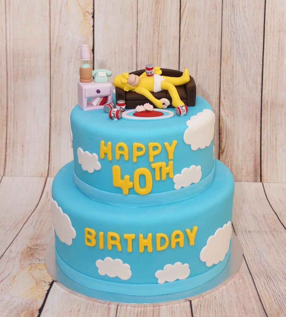 Simpsons Cake 1