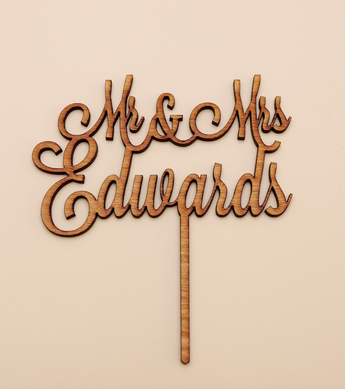 Personalised Name Cake Topper 2