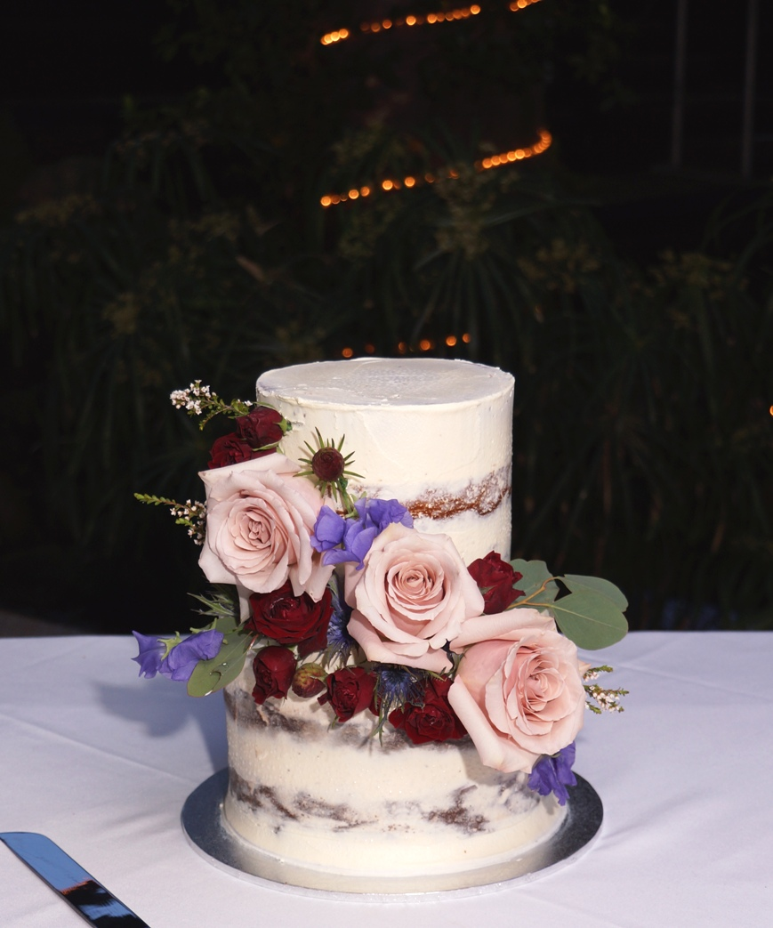 2 Tier Semi Naked with fresh Flowers 18.