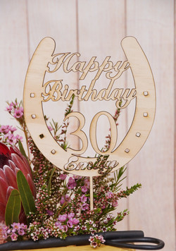 Horseshoe Birthday Topper