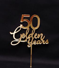 50 Golden Years - Gold Mirror