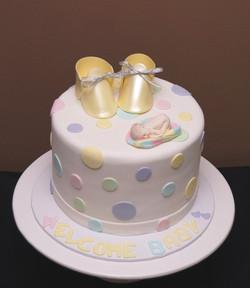 Pastel Spot Baby shower cake