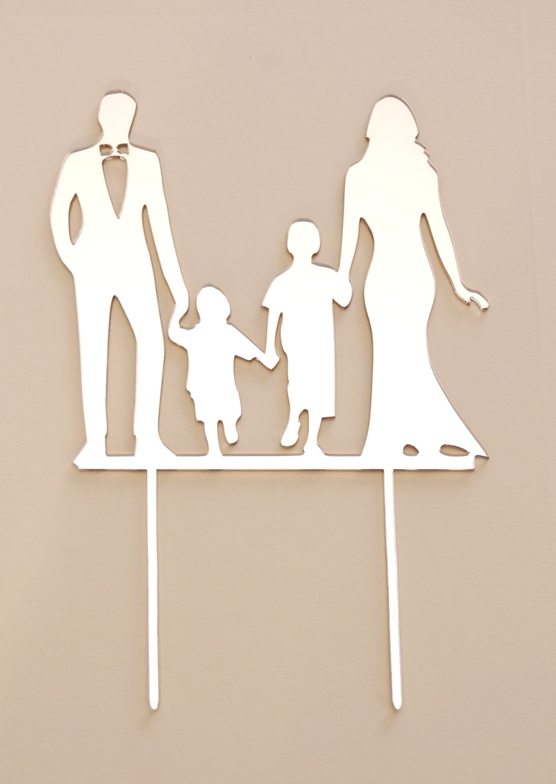 Mirror Bride & Groom with kids