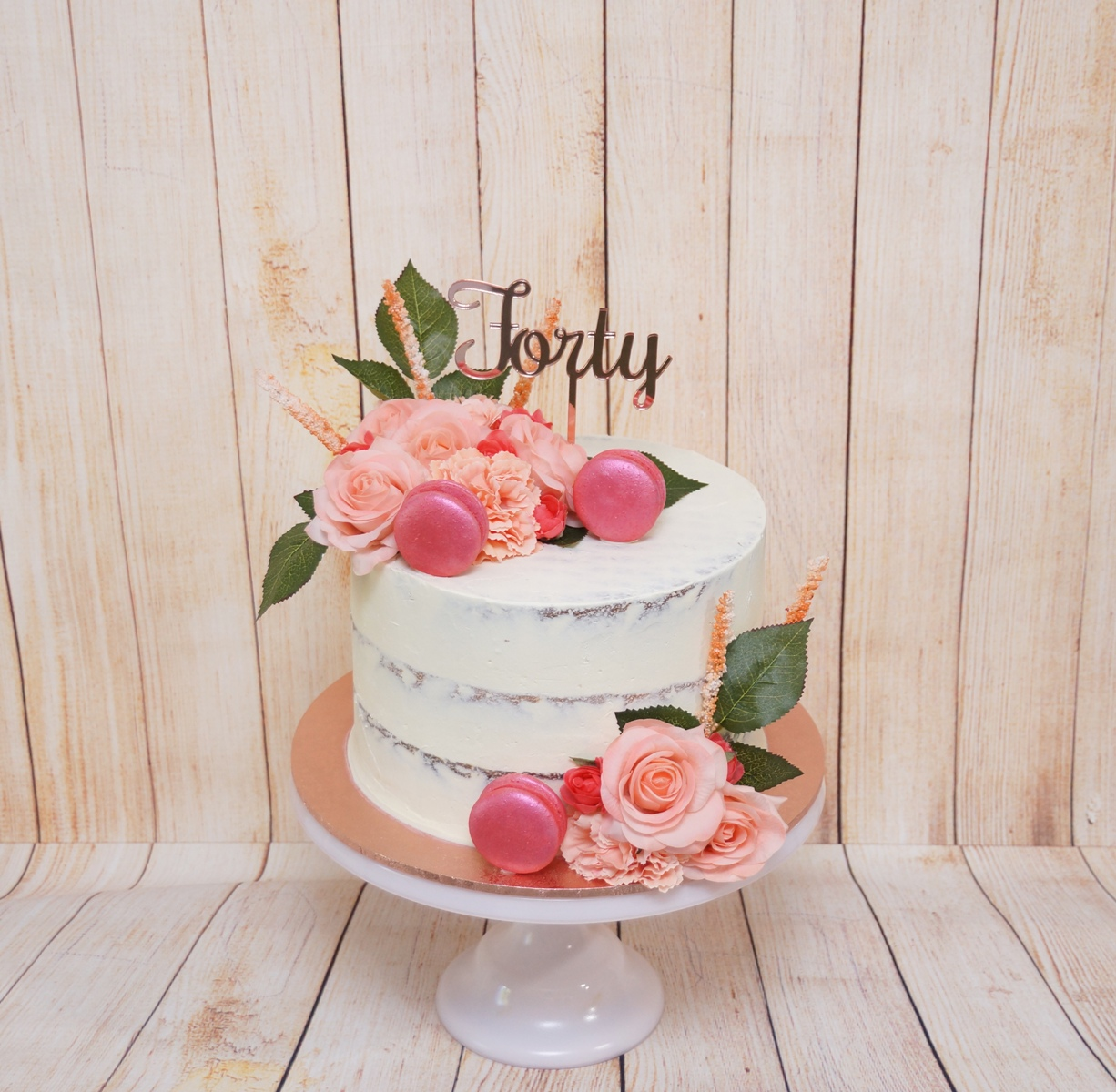 1 Tier Semi Naked peach and rose gold 2.