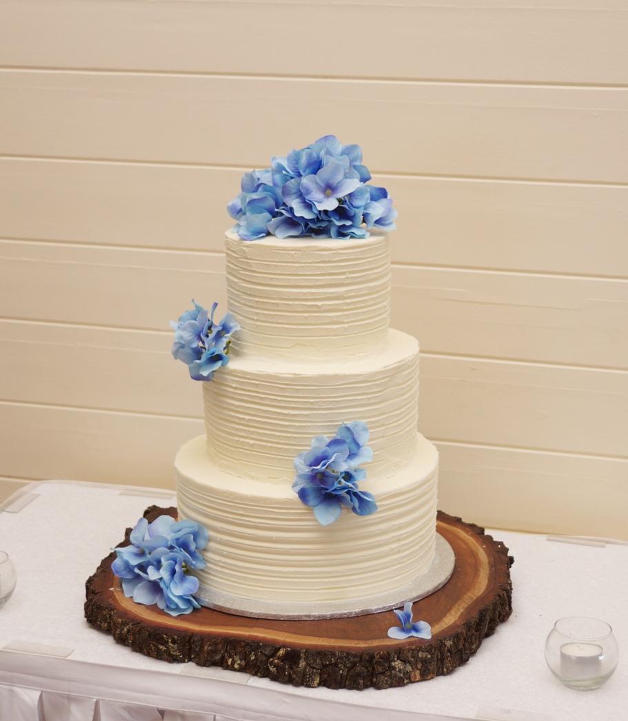 Hydrangea Wedding Cake 2