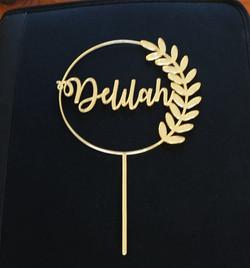 Gold Mirror Wreath Delilah