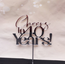 Cheers to 40 Years - silver