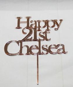 Rose Gold Happy Birthday Chelsea