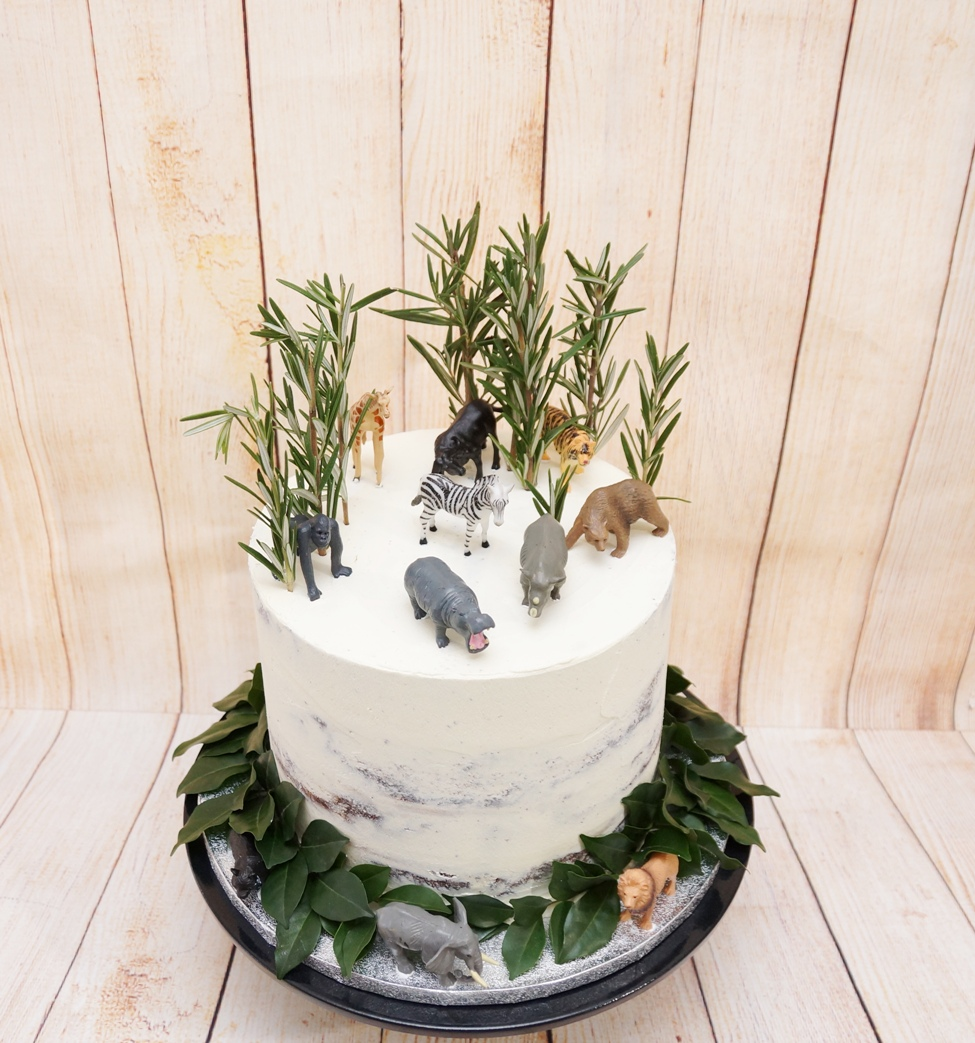 Semi Naked Jungle cake