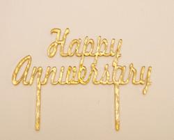 Happy Anniversary Cake Topper