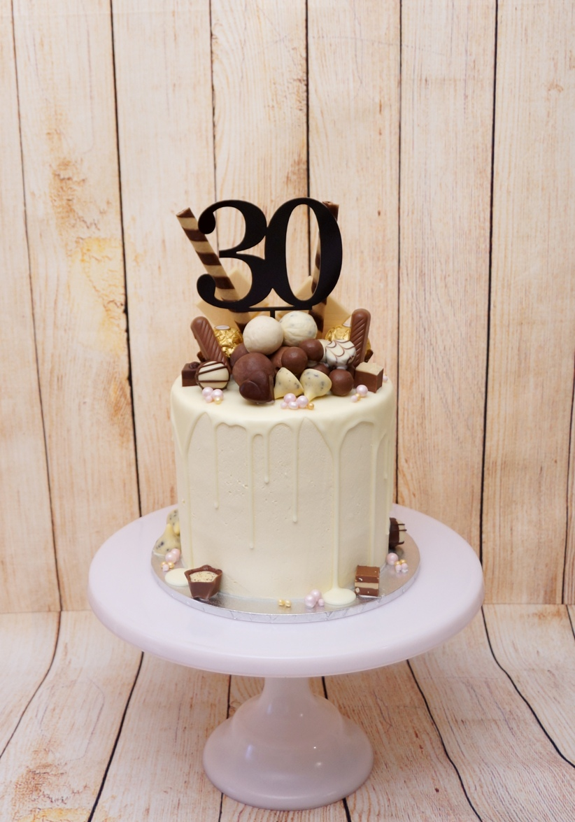 1 Tier buttercream with chocolate drip a