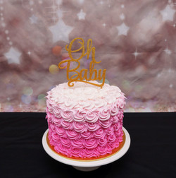 Pink Ombre Buttercream rosettes 1