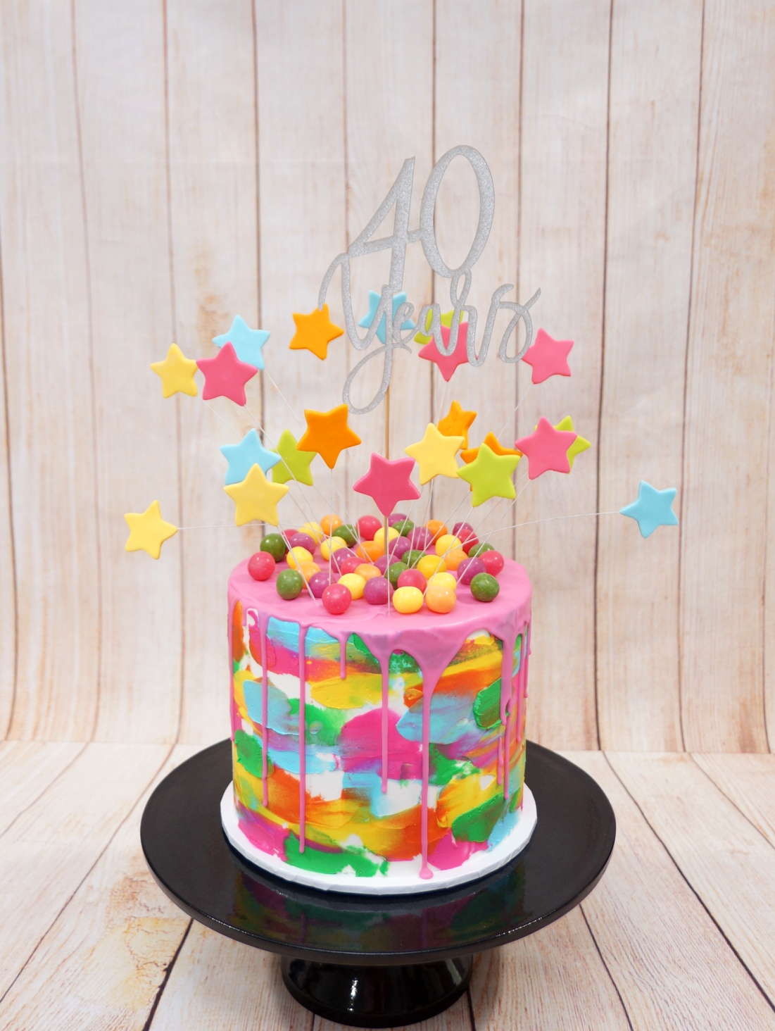 Bright colour buttercream with bright co