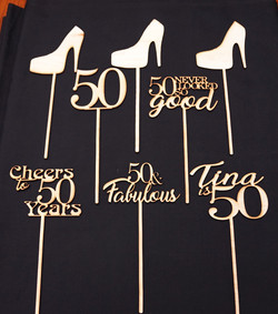 50th Table Signs