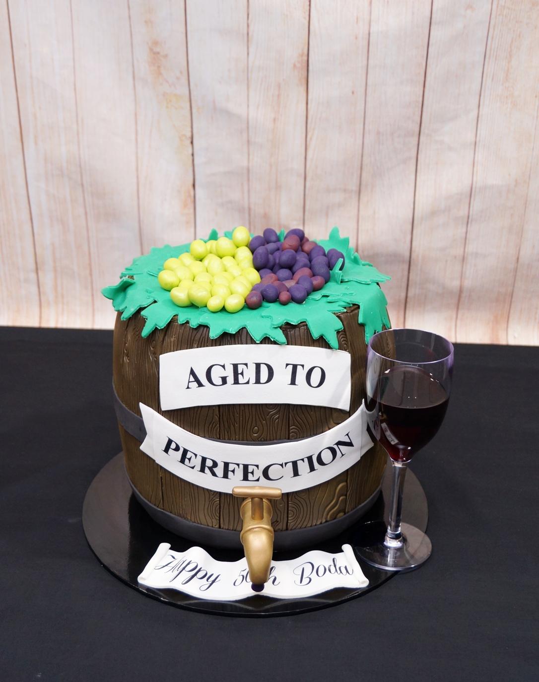 Wine Barrel Cake 2