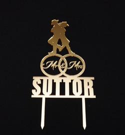 Gold Mirror Cowboy Mr & Mrs Sutter